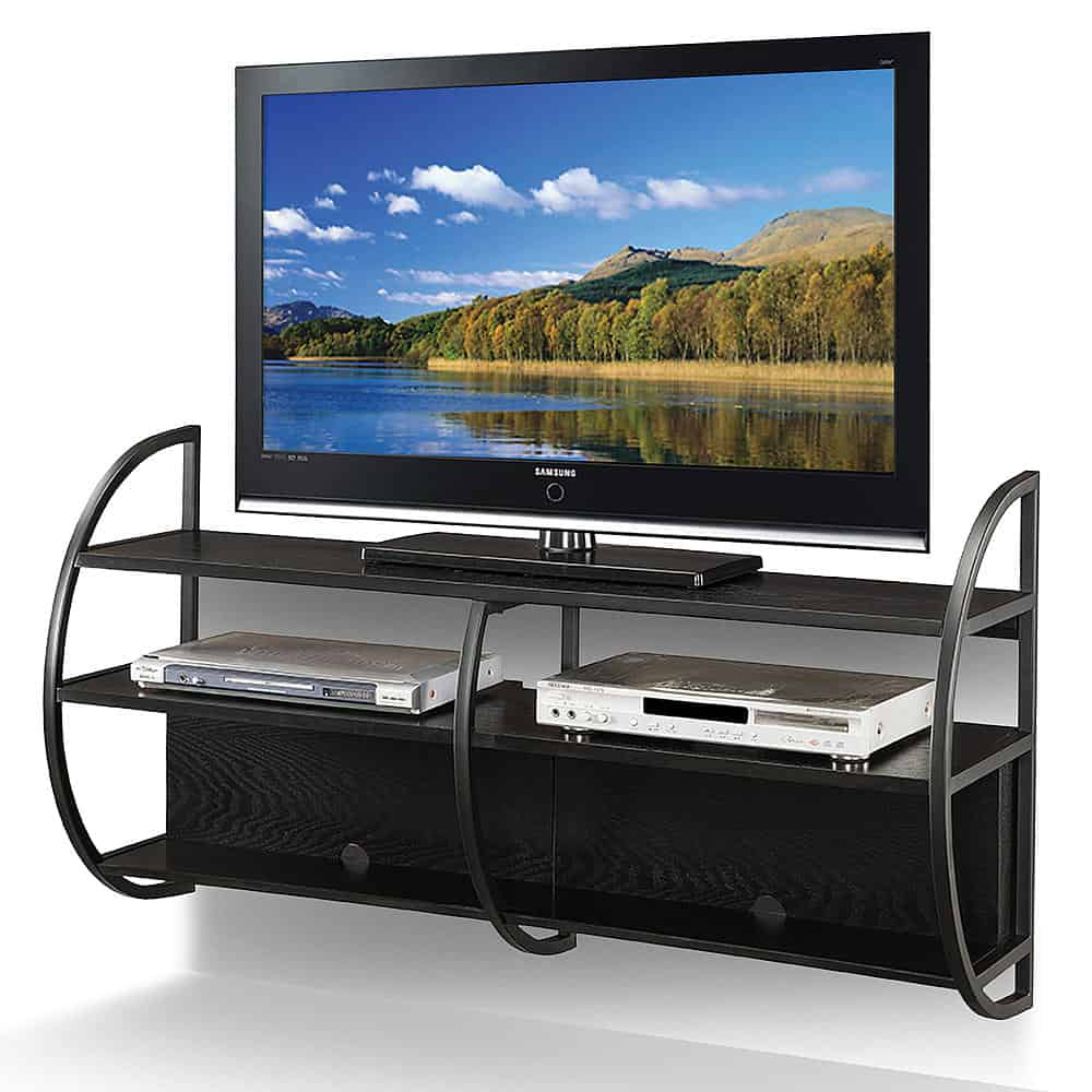 slate oak floating tv stand