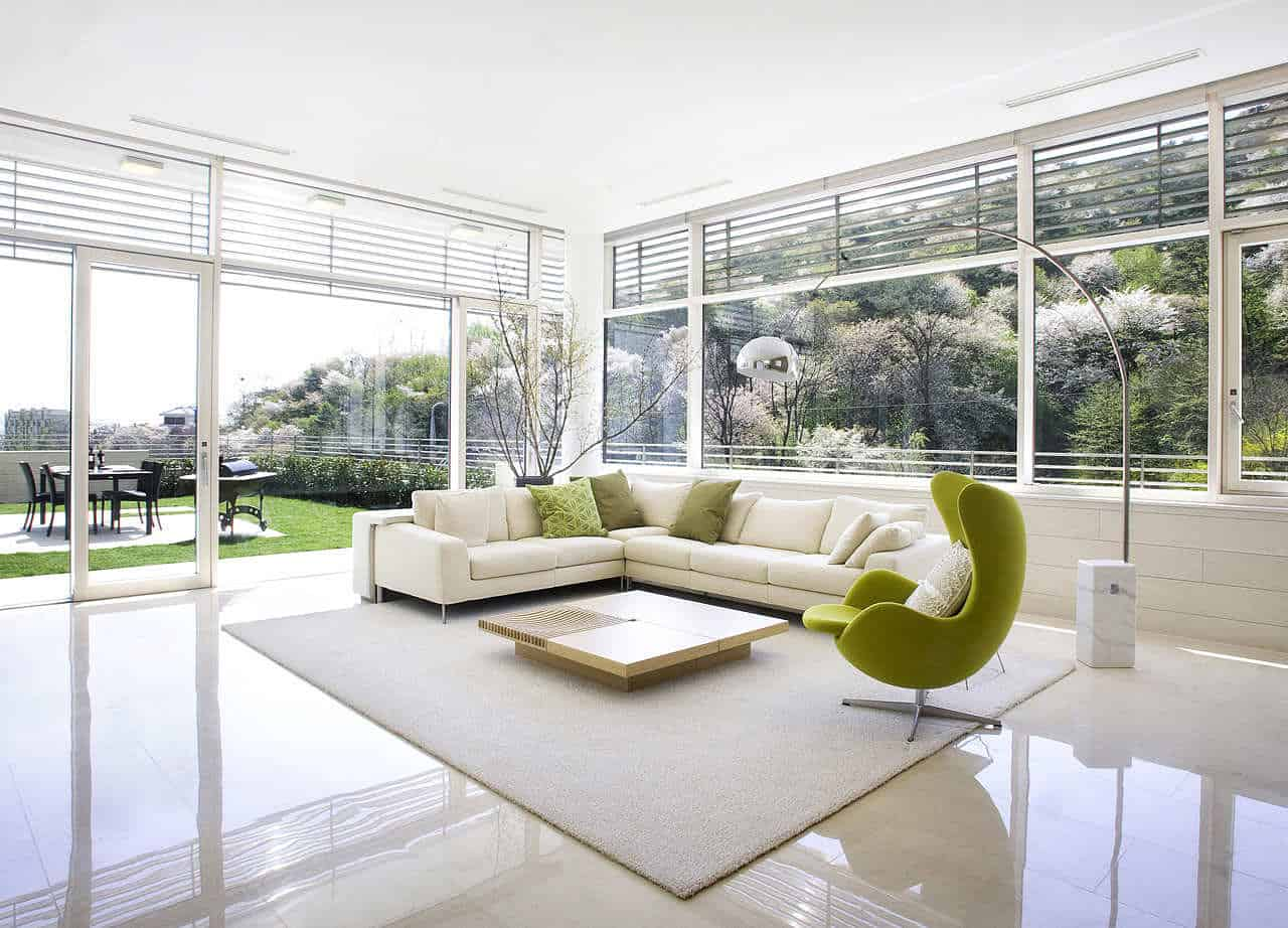 white couch with rug