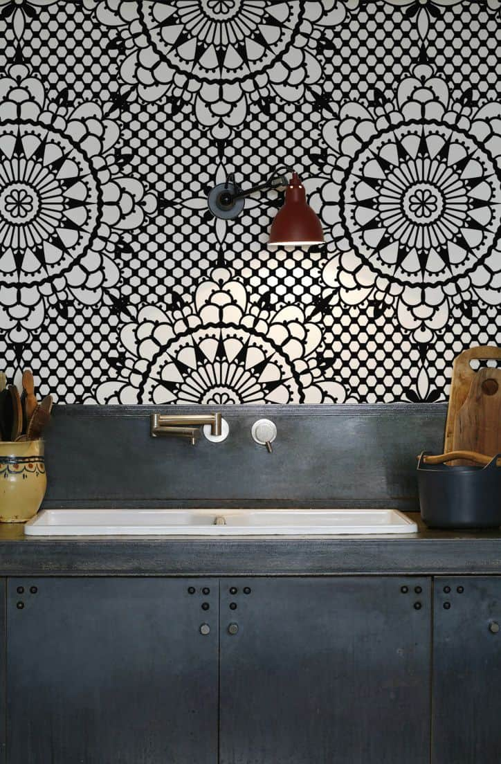 Fun Ways To Wallpaper Your Kitchen