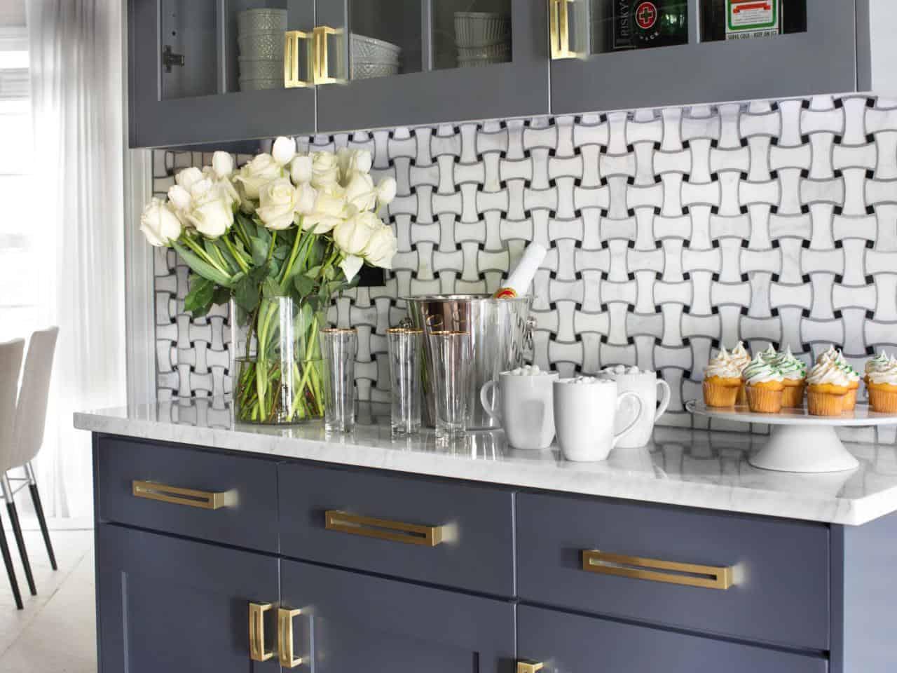 geometric kitchen wallpaper