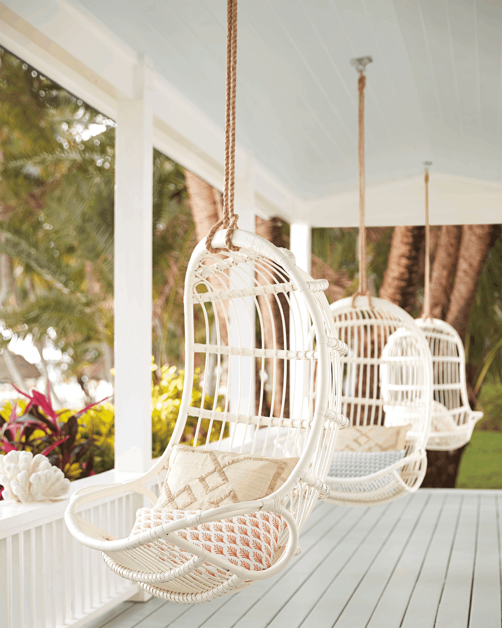 hammock chair 2 13 Porch Ideas For Lazy Entertaining Days