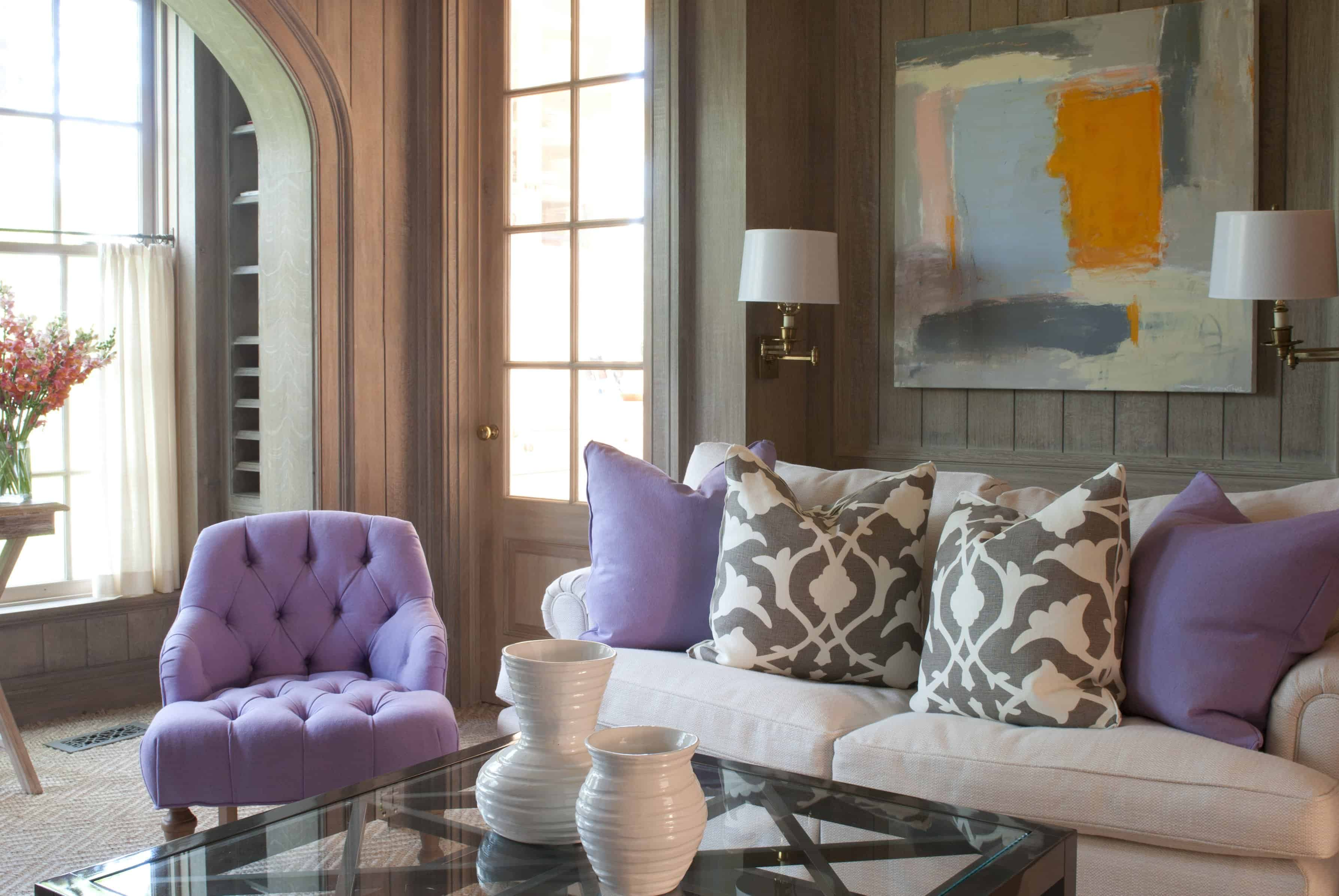 lavender arm chair
