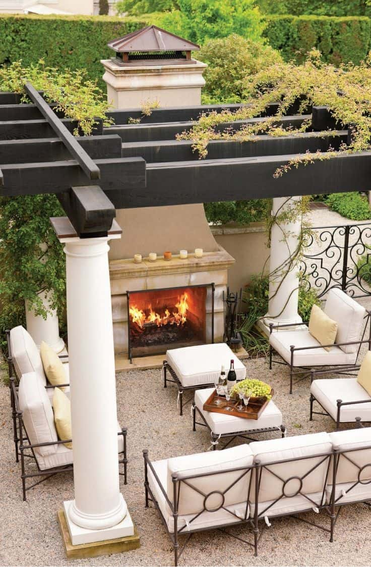 luxury chic outdoor seating