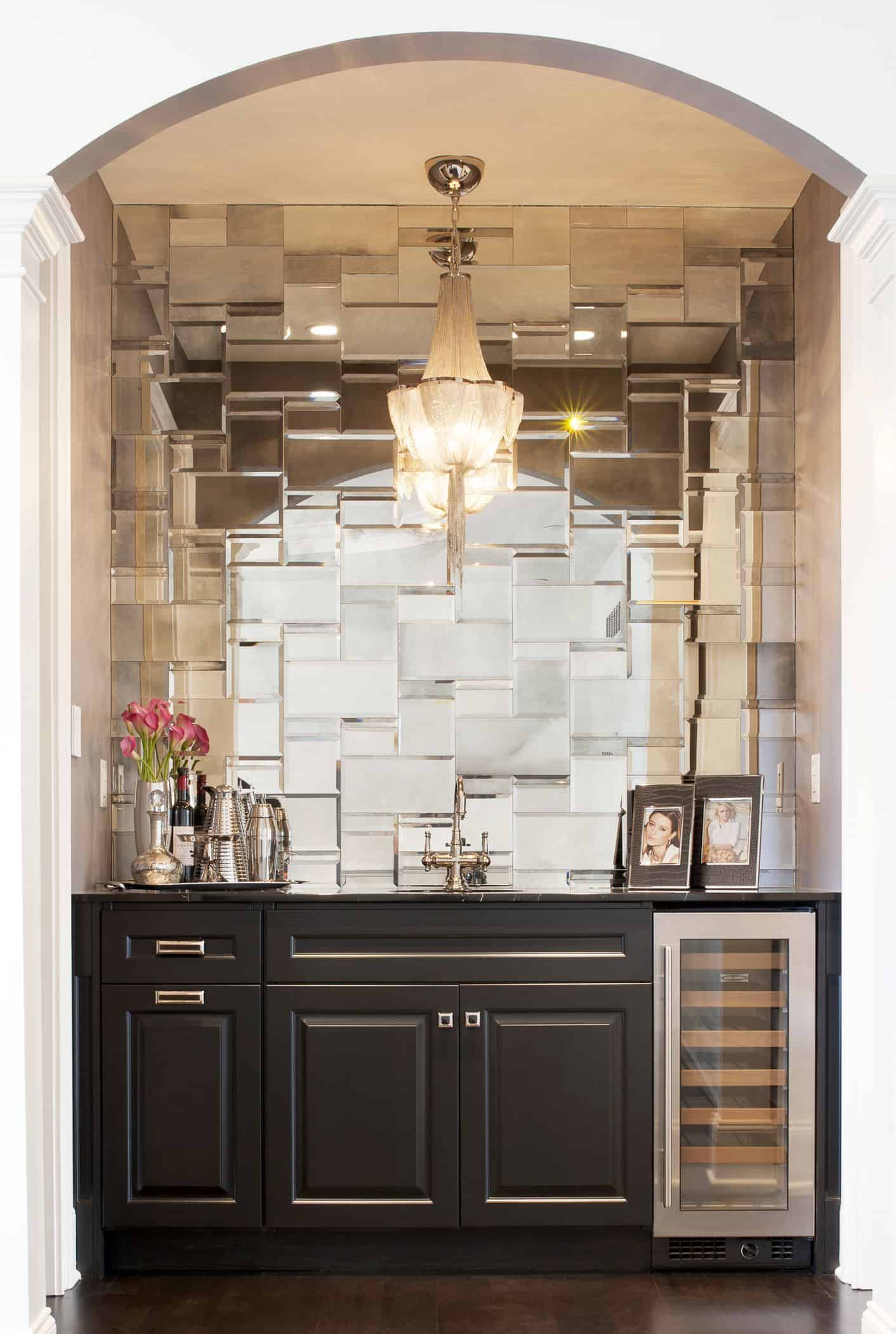 mirrored kitchen backsplash Outdated Home Trends That Could Be Making A Comeback