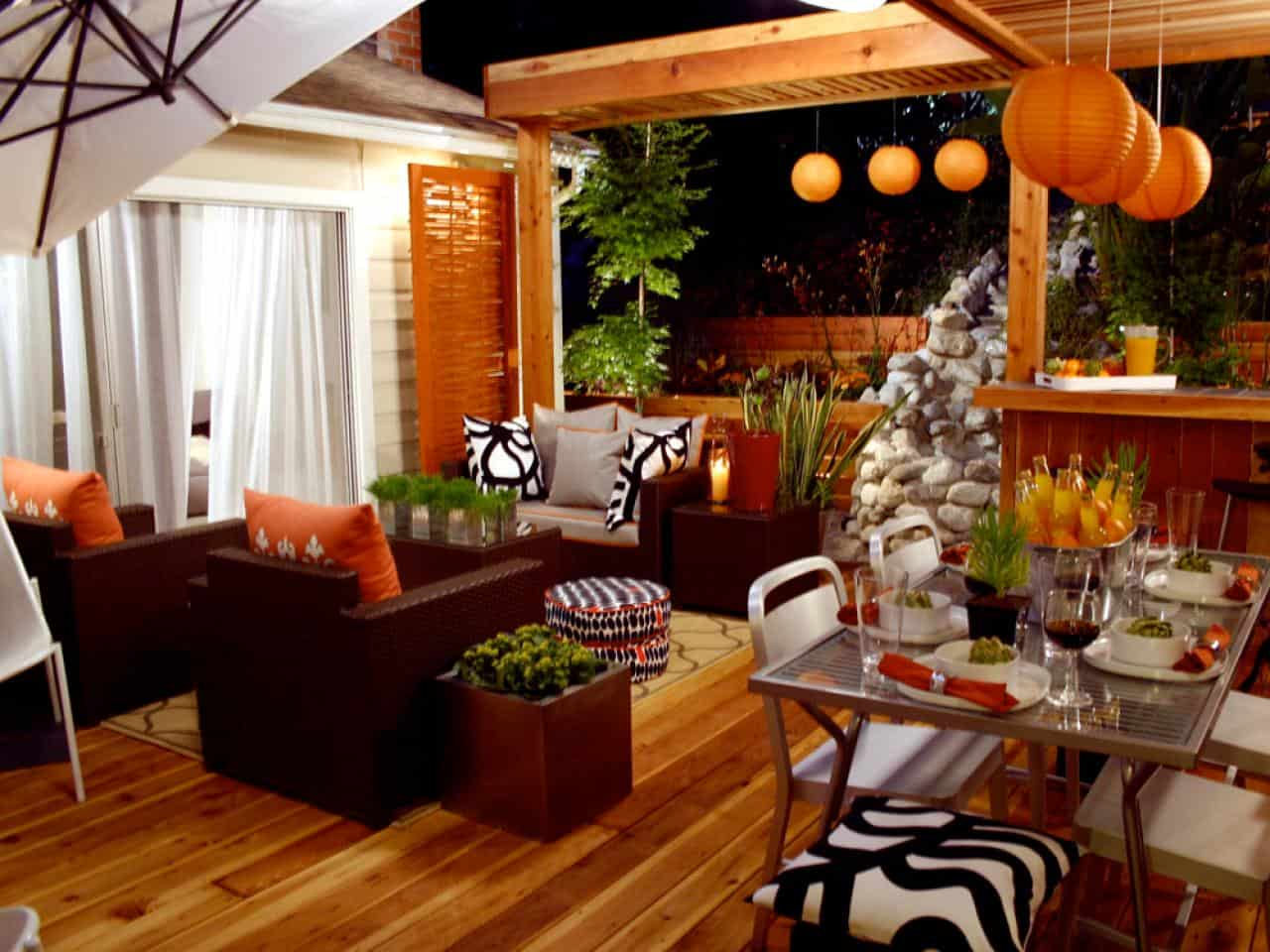 outdoor decor with color