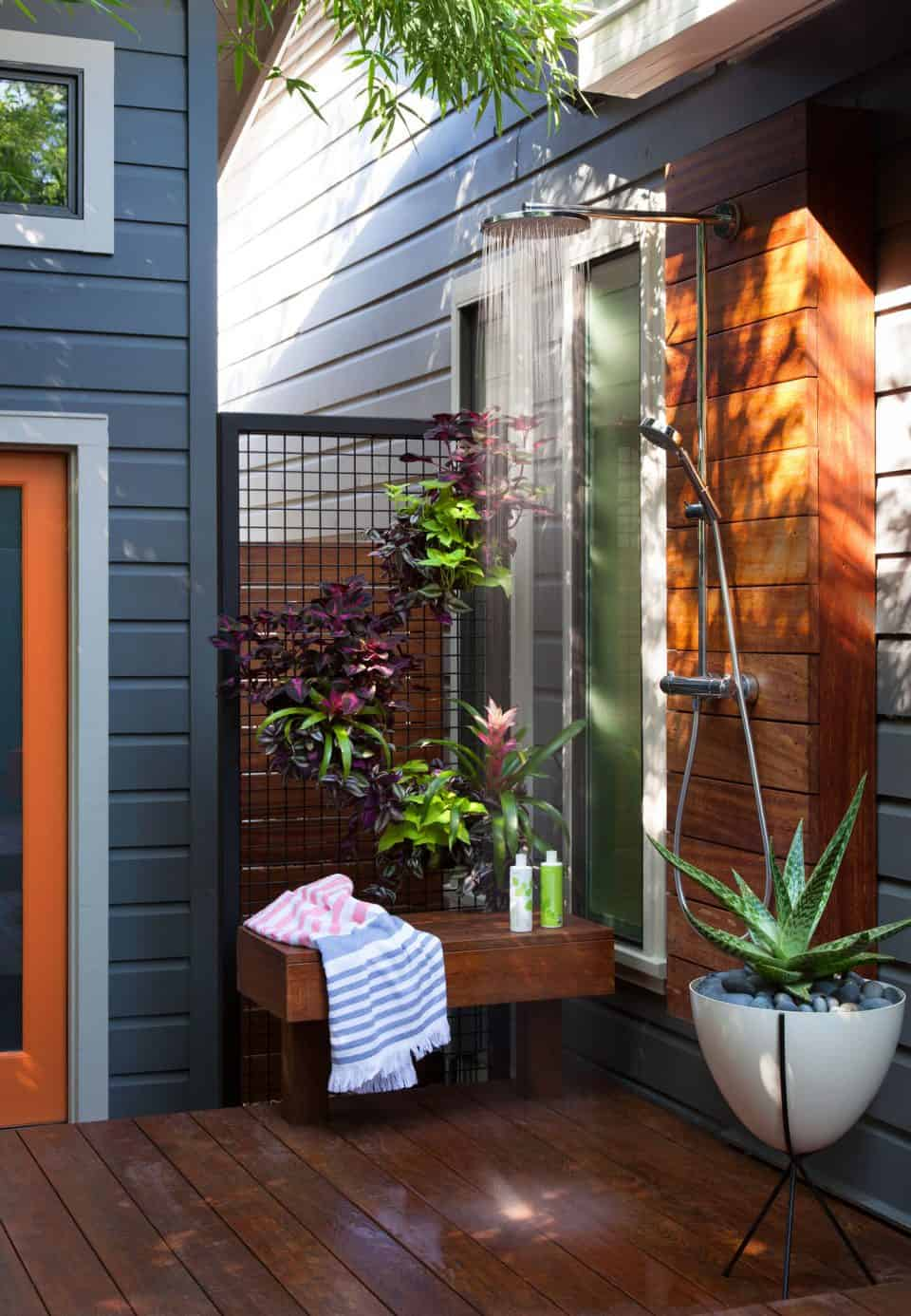 outdoor shower oasis
