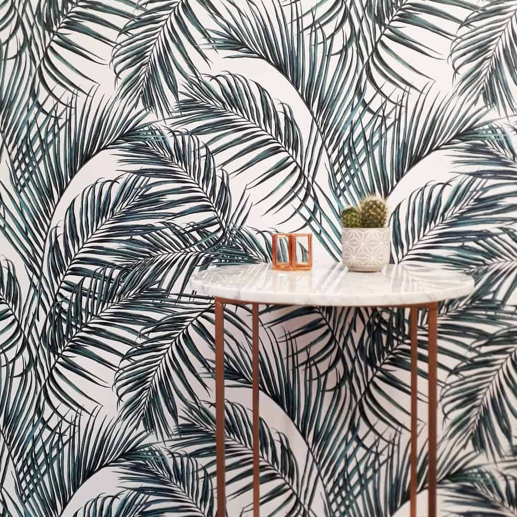 palm leaf kitchen Fun Ways To Wallpaper Your Kitchen