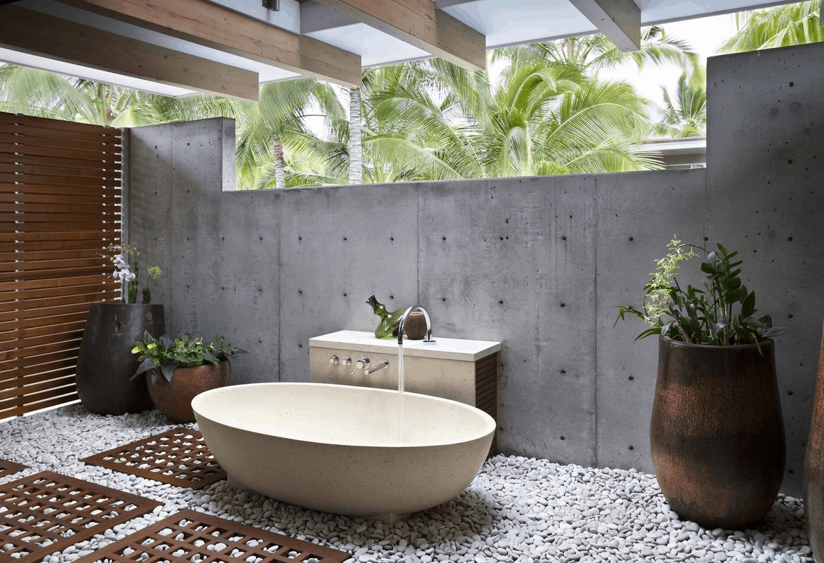 simple outdoor tub