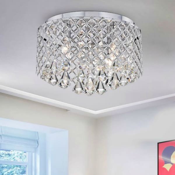 Delanie4 LightLEDFlushMount 2 15 Bedroom Chandeliers That Will Round Out Your Personal Redo
