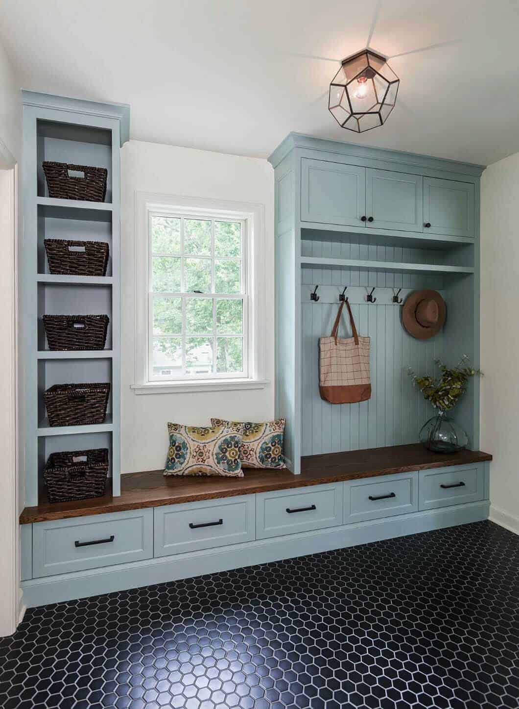 blue with farmhouse mudroom.png 2 Stylish Mudroom Decor Ideas