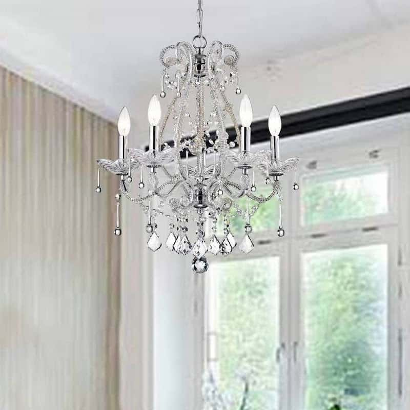 15 bedroom chandeliers that will round out your personal redo www has a great selection of chandeliers to choose from and this one has a more traditional style thats still fit for the bedroom its a smaller design so it aloadofball Images
