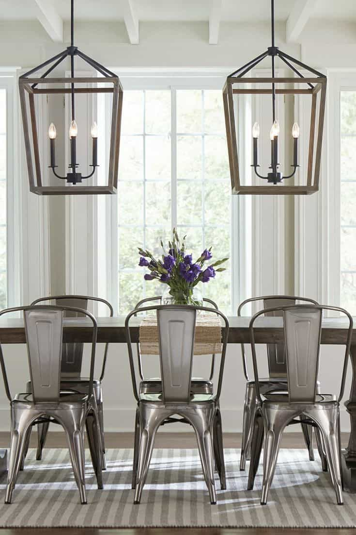 dining room with crisp lines