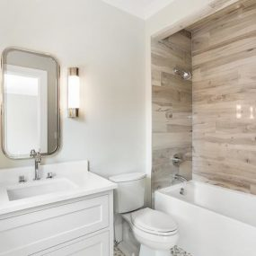 "15 Bathrooms That Have Been Transformed With ""Wood"" Tile"