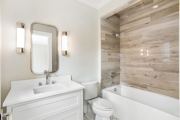15 Bathrooms That Have Been Transformed With Wood Tile