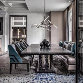 Dining room upgrades with hints of masculine beauty