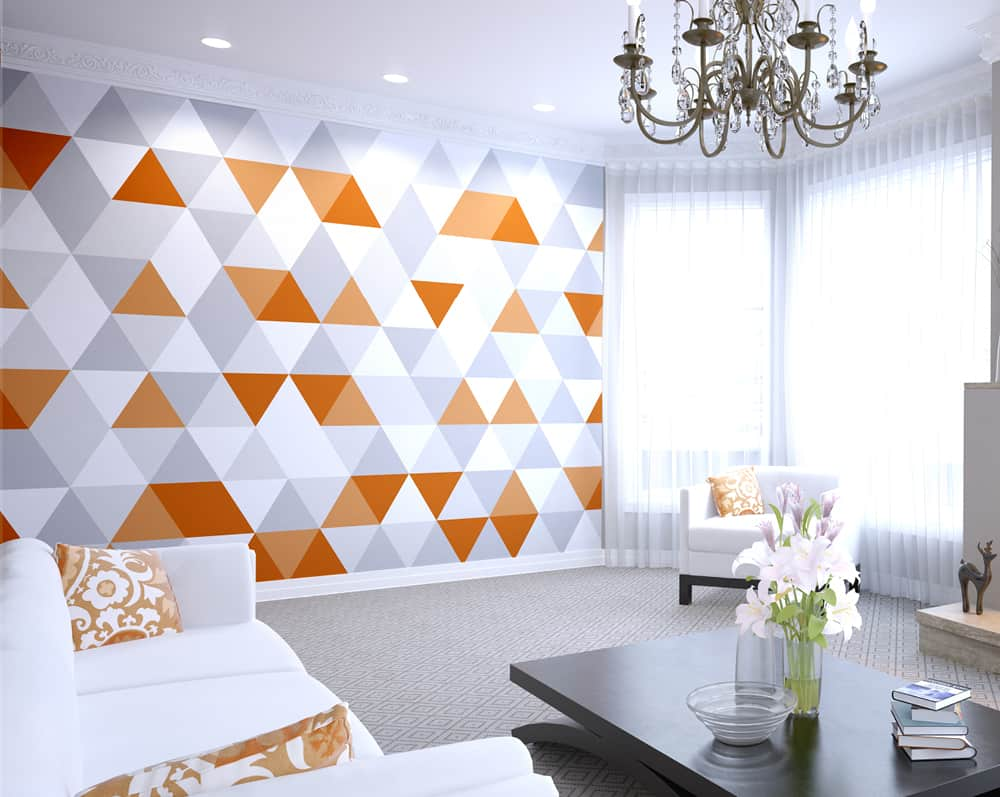 geometric pattern living room