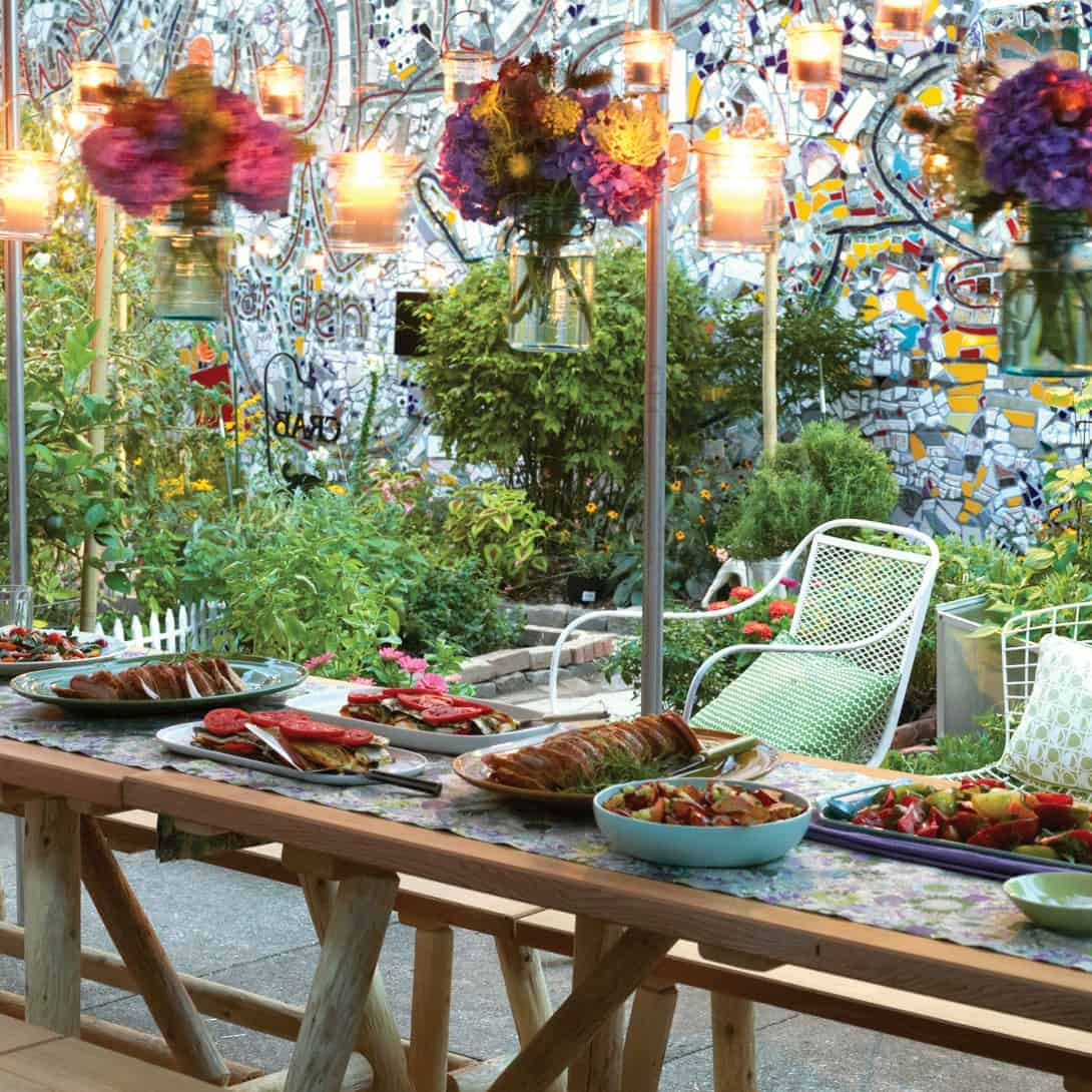 get creative with outdoor decor