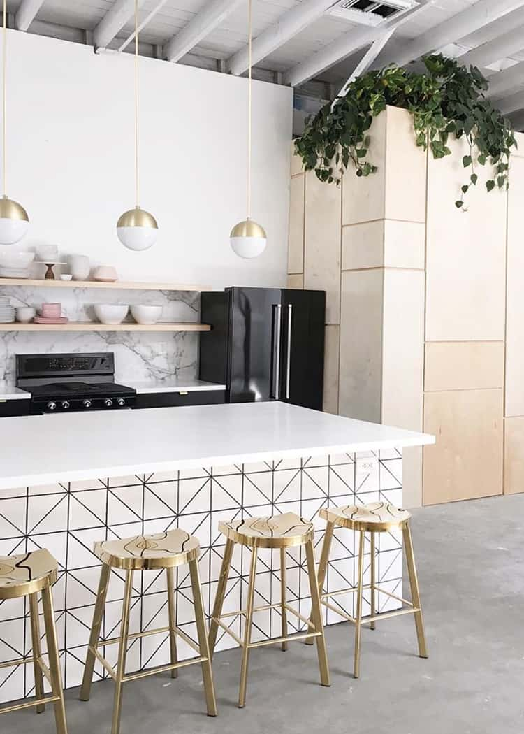 gold in the kitchen 12 Effortless Ways To Make Your Home Picture Perfect