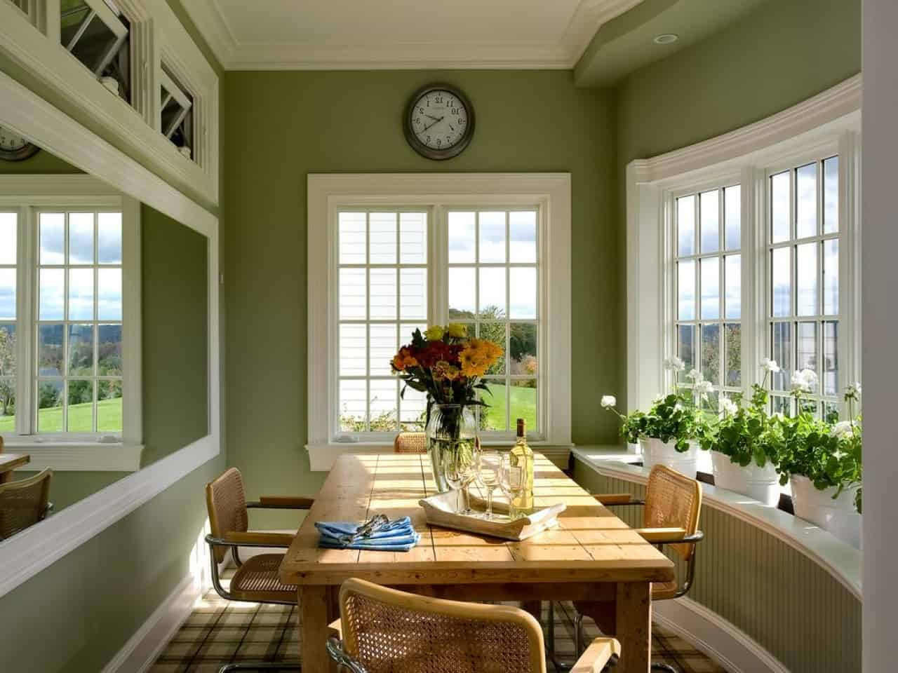 green breakfast nook