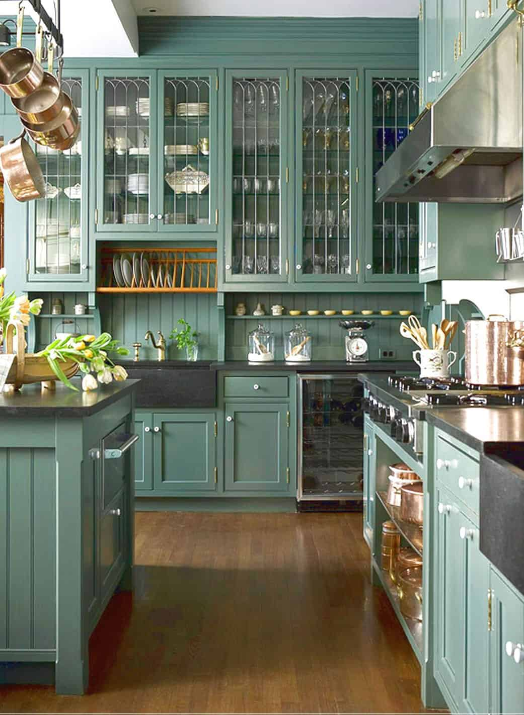 green kitchen cabinets Green Kitchens That Will Make You Envious