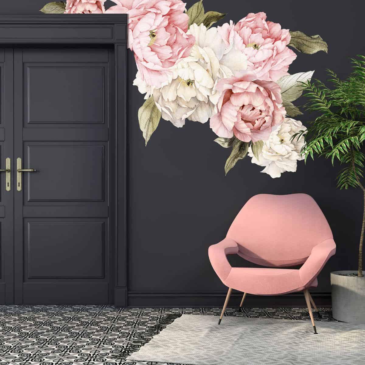large floral wallpaper