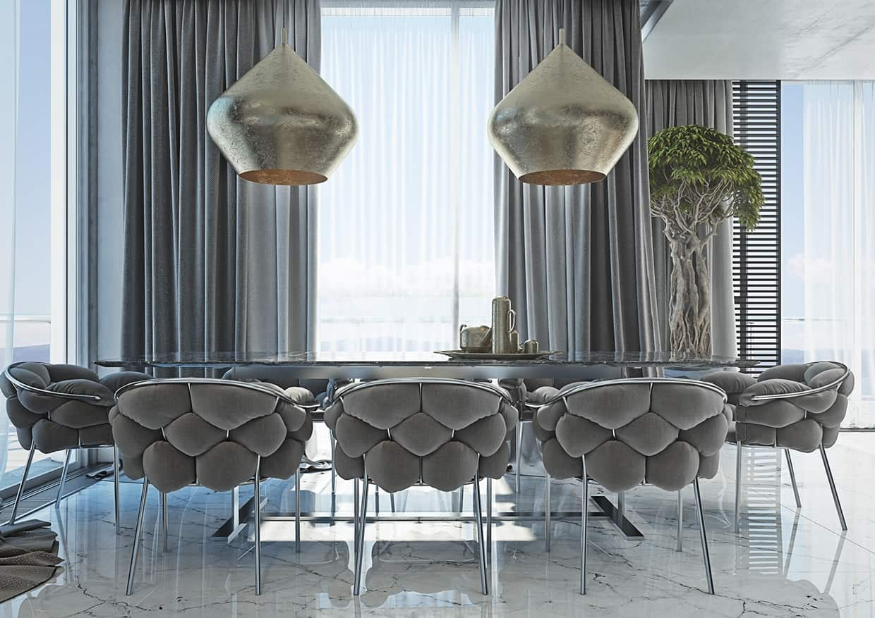 masculine gray palette Dining room upgrades with hints of masculine beauty