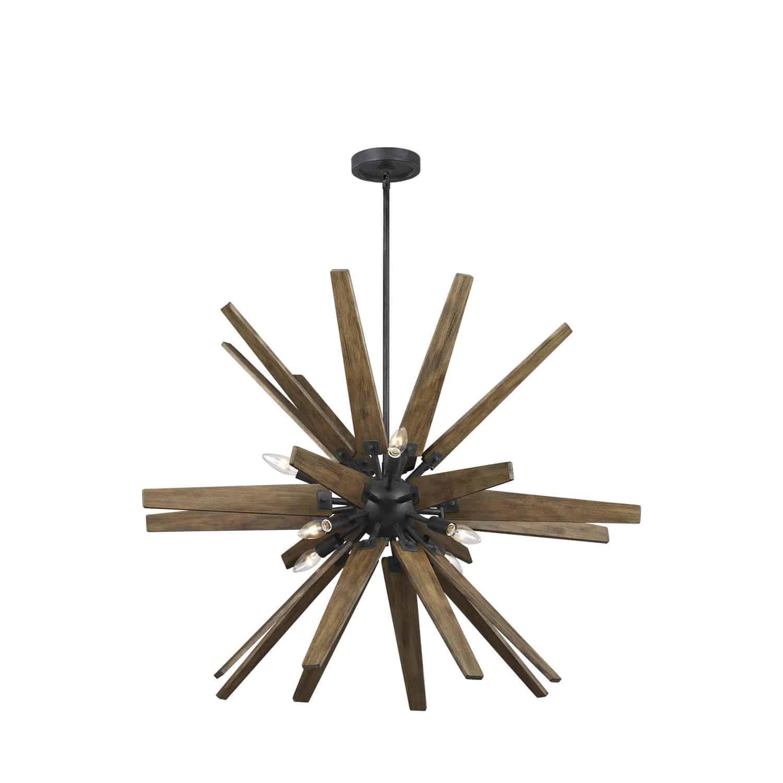 rustic starburst chandelier