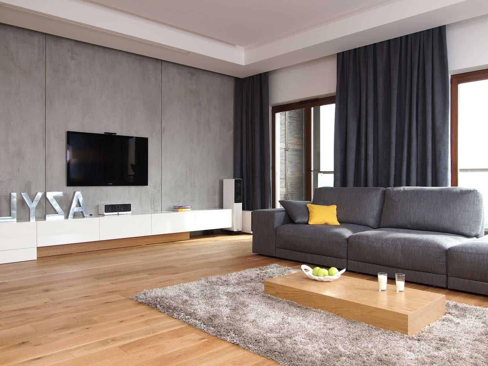 shag rug in living room