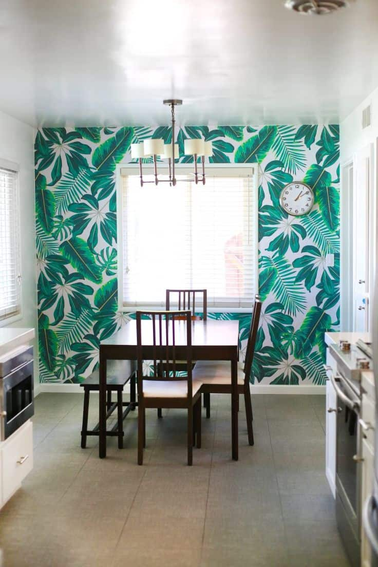 tropical wallpaper in the dining room 12 Interior Design Elements To Add To Your Space Right Now