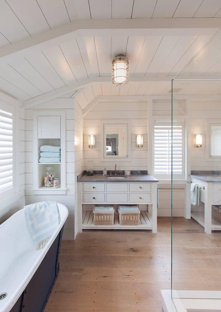 white oak in bathroom