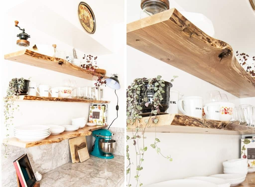 Rustic-kitchen-shelves
