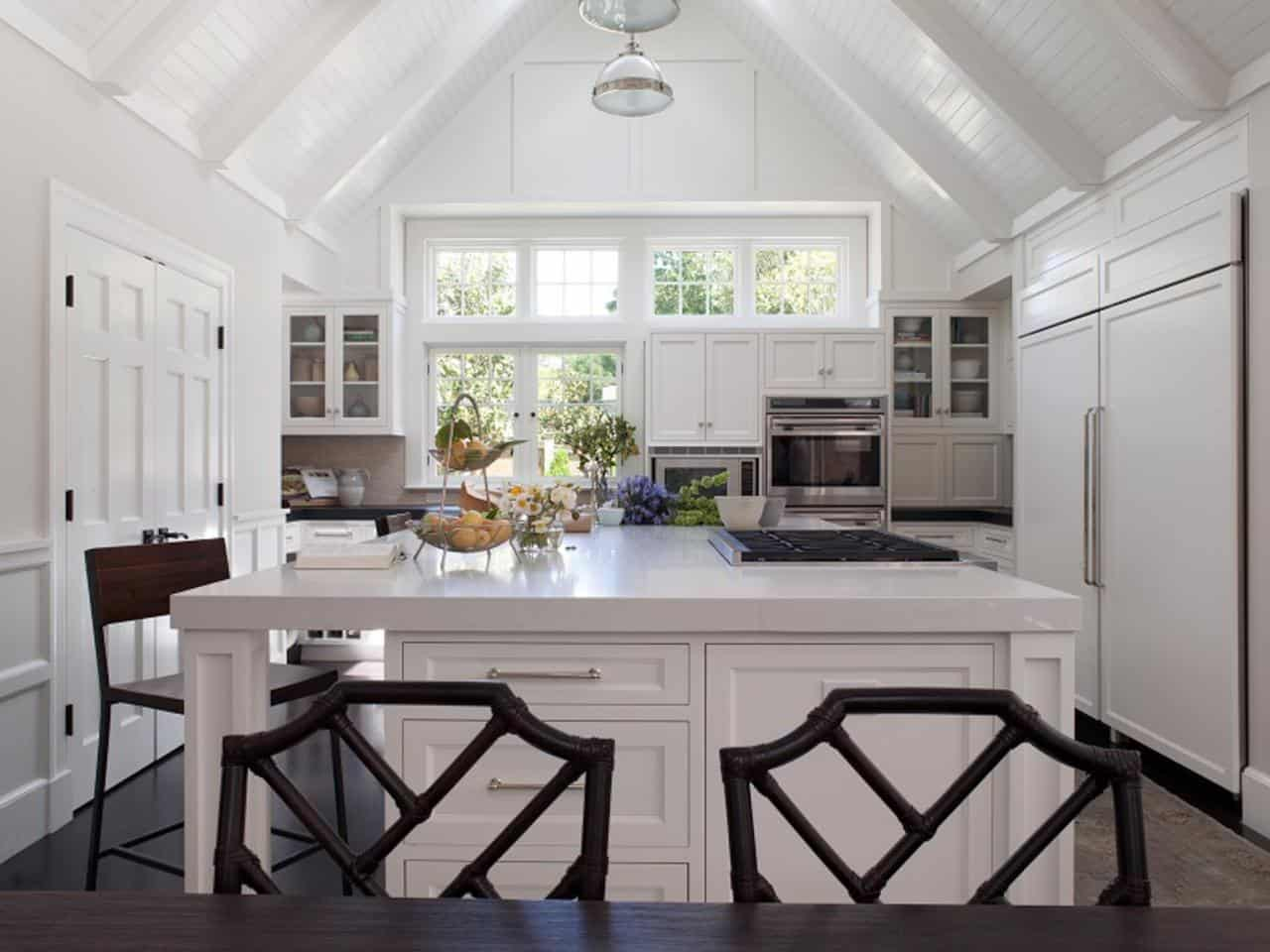 all-white wood cieling