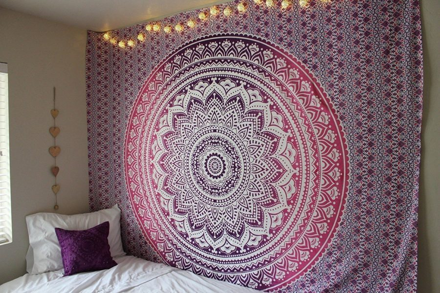 boho tapestry wall covering in bedroom 900x600 15 Wall Covering Ideas To Fall in Love With