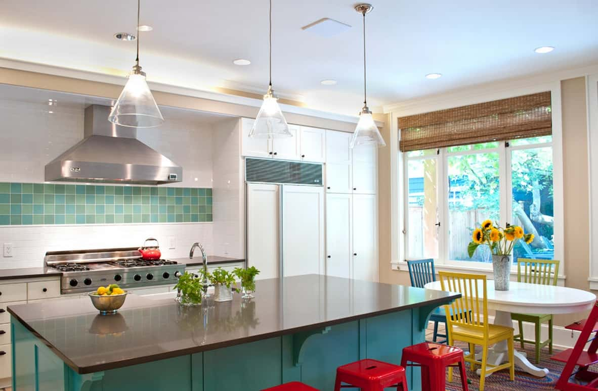 colorful eclectic decor  Eclectic Kitchens That Are Too Good To Be True