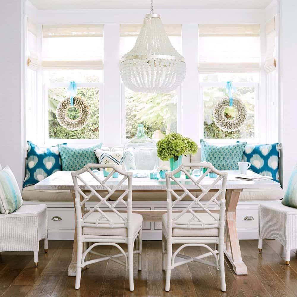 cozy banquette seating