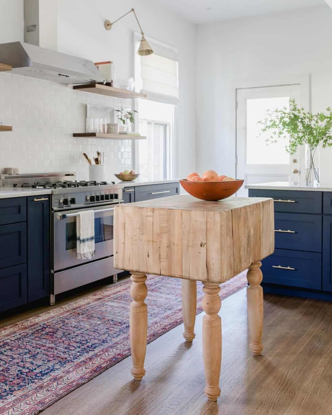 eclectic kitchen island