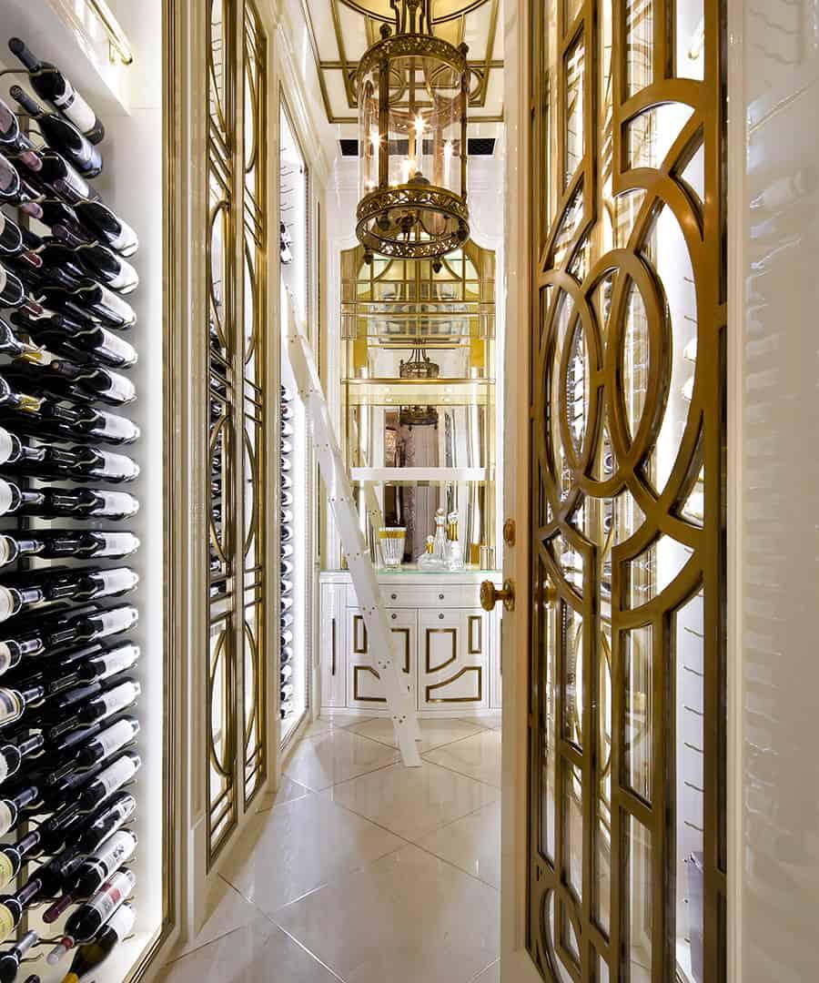 elegant wine cellar