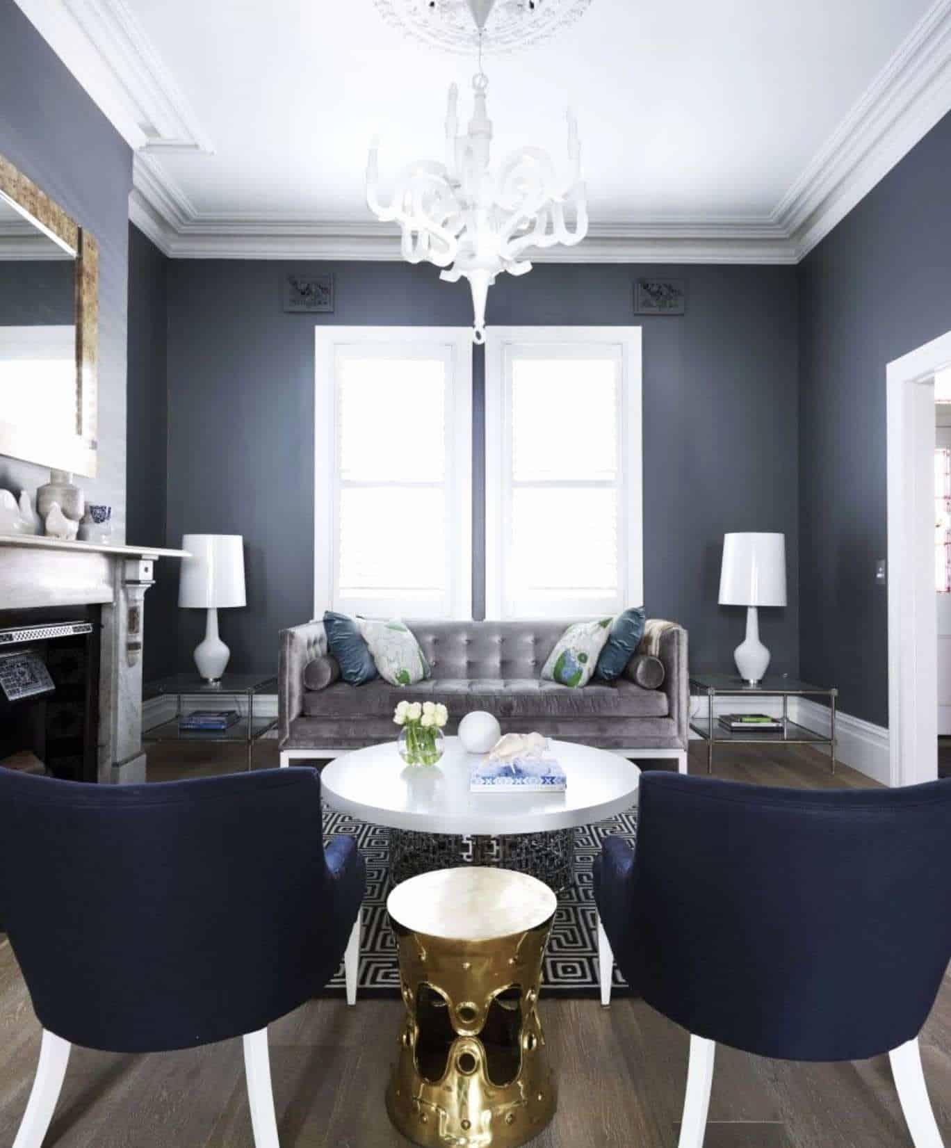 green home decor Fresh Greg Natale Navy gray white green Lounge Pinterest
