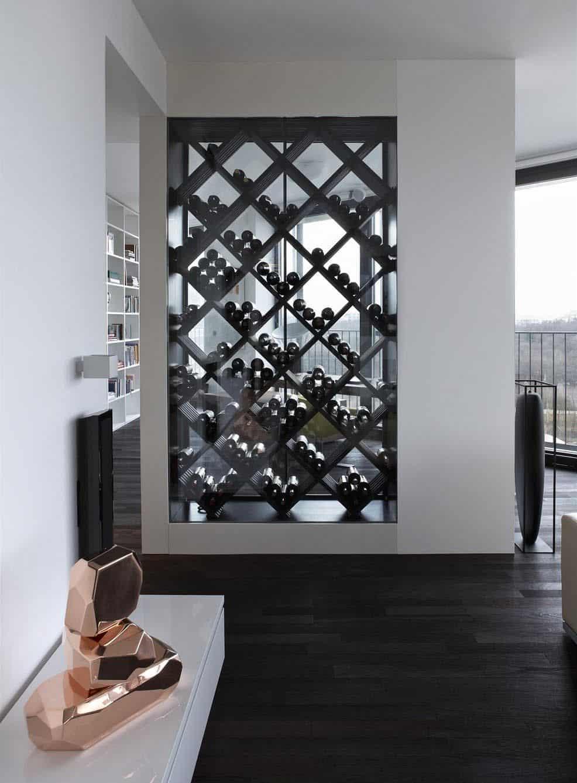 geometric wine cellar