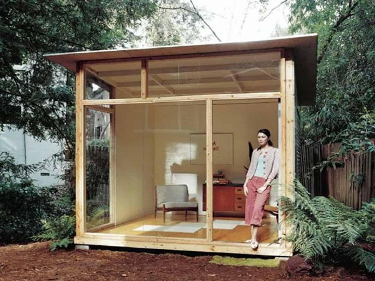 glass diy studio shed