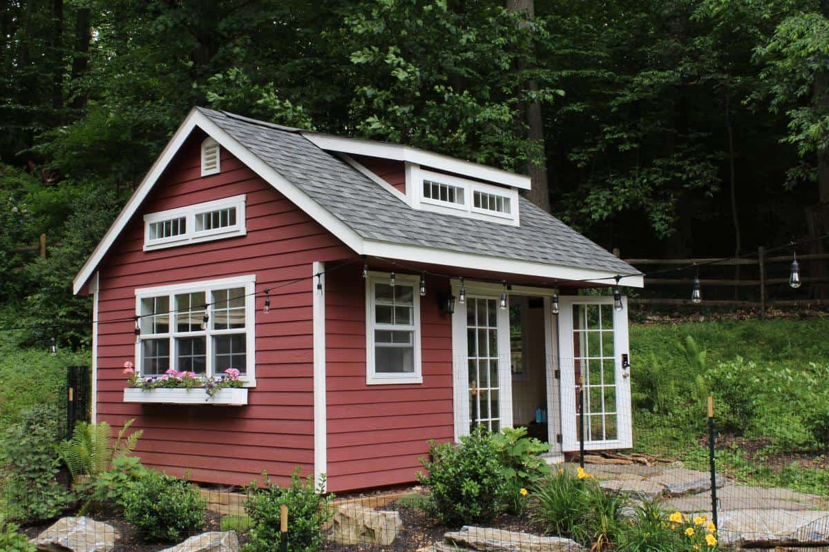 home office traditional shed