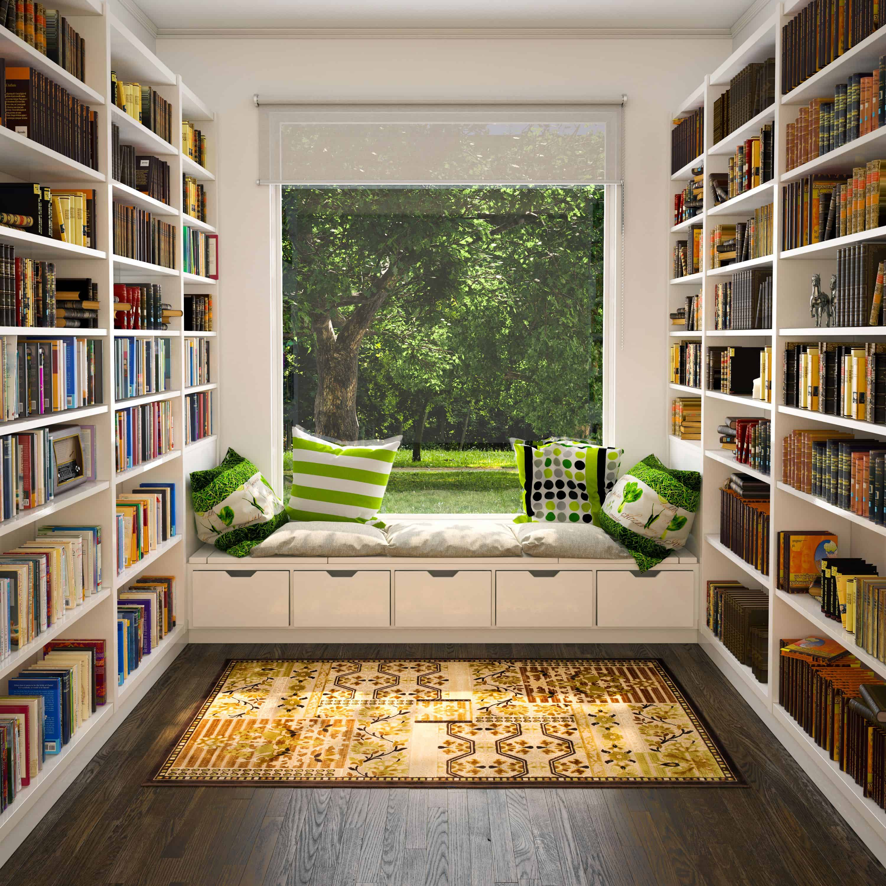 library with private hideaway