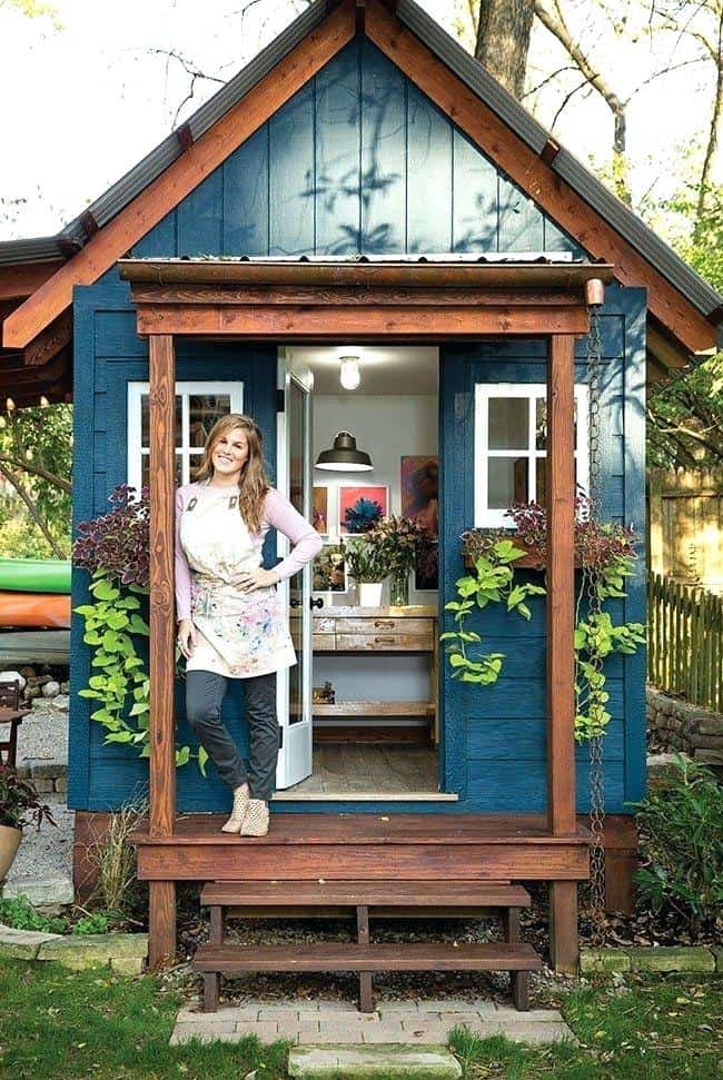 mini artist studio shed