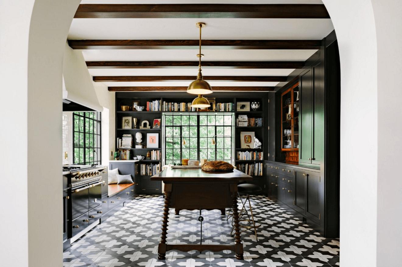 minimal eclectic kitchen