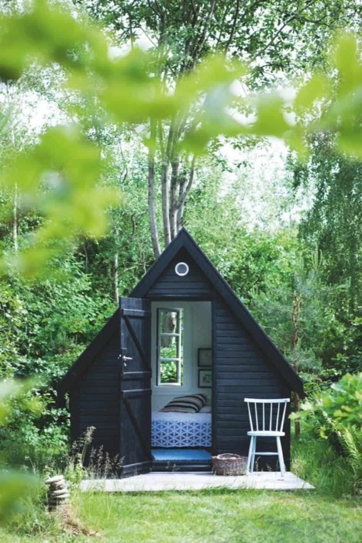 minimal triangular studio shed