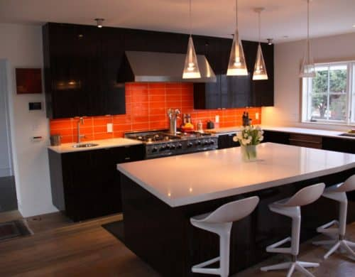Brighten Up Your Home With An Orange Kitchen