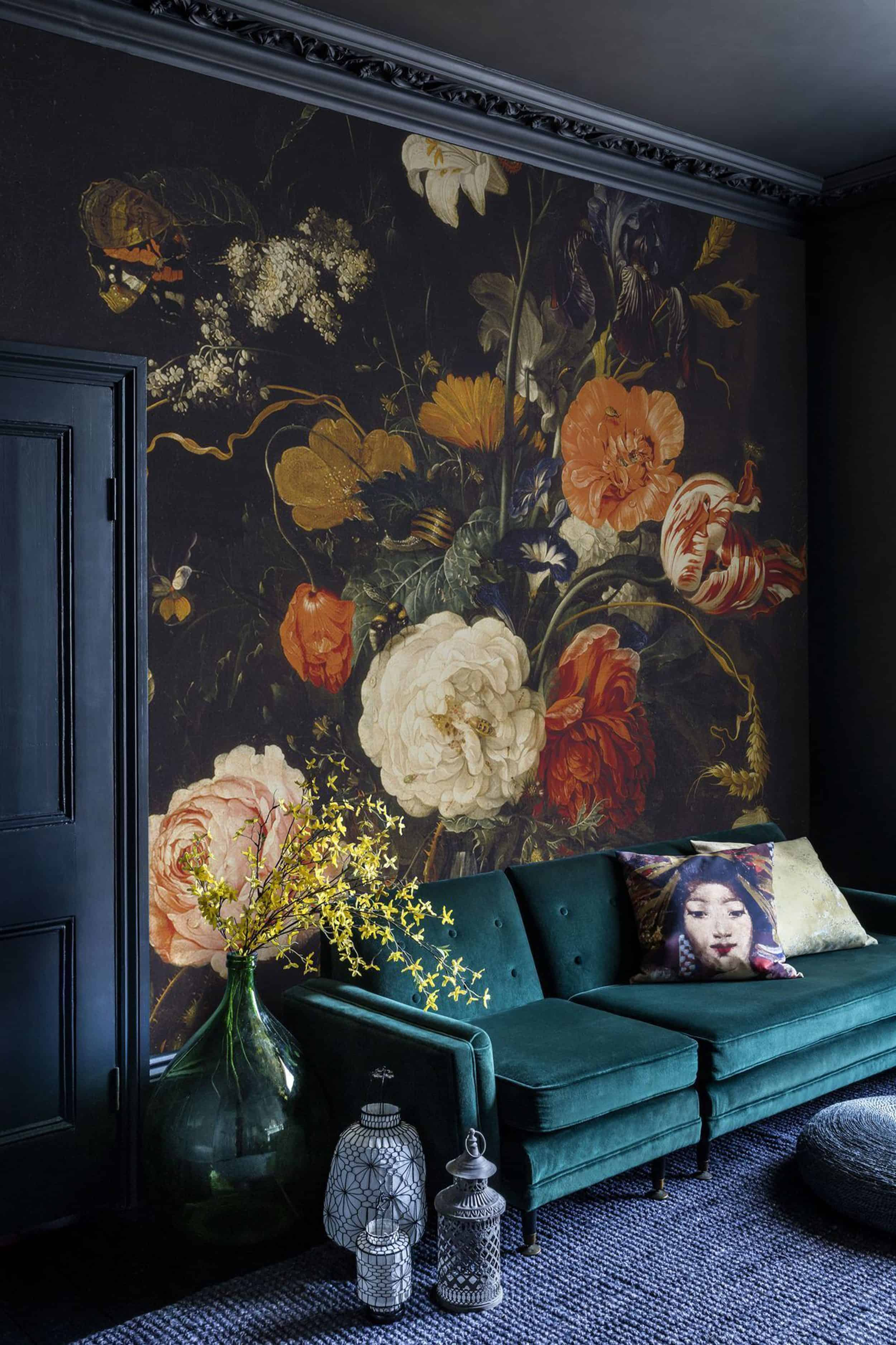 oversized floral display fall