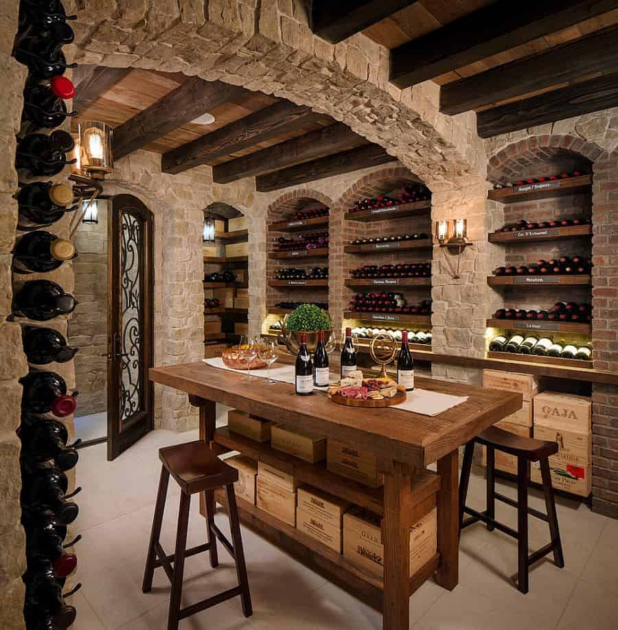 rustic home cellar Chic Ways To Design Your Wine Room