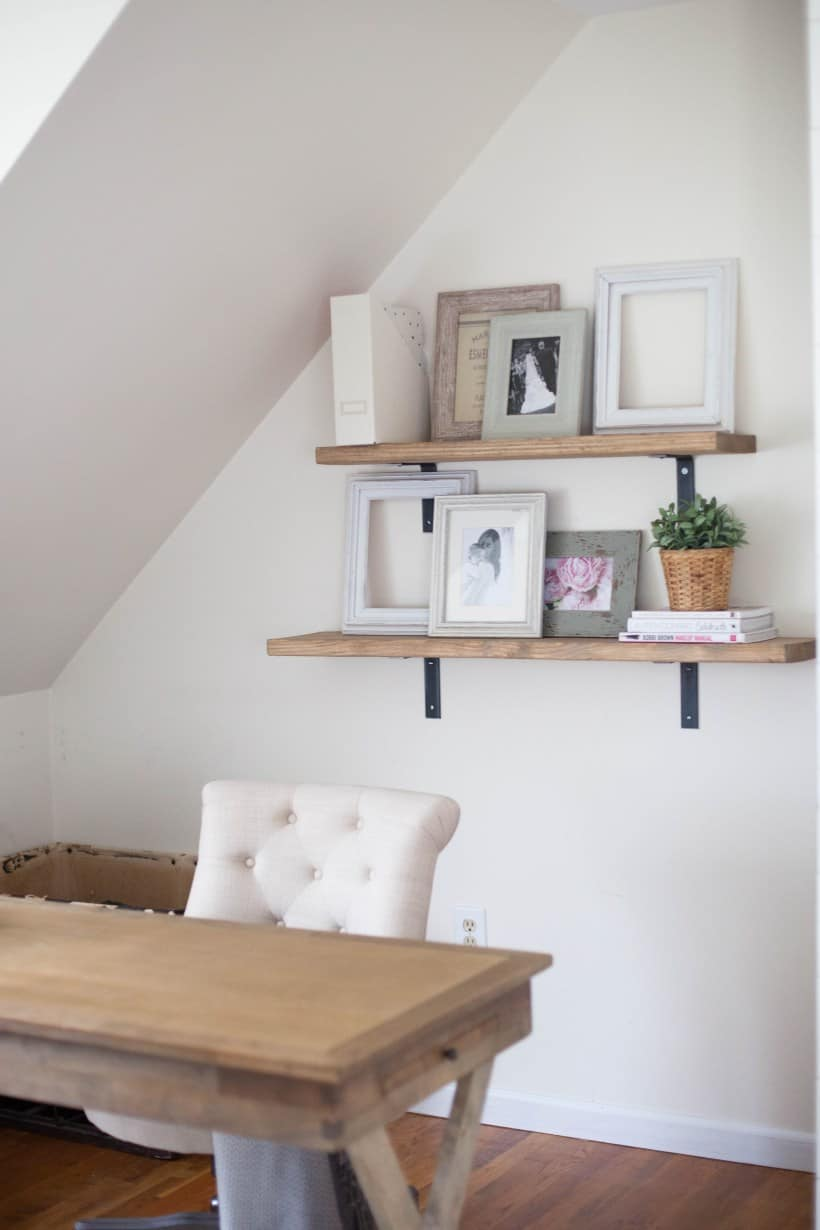 rustic shelves for home office