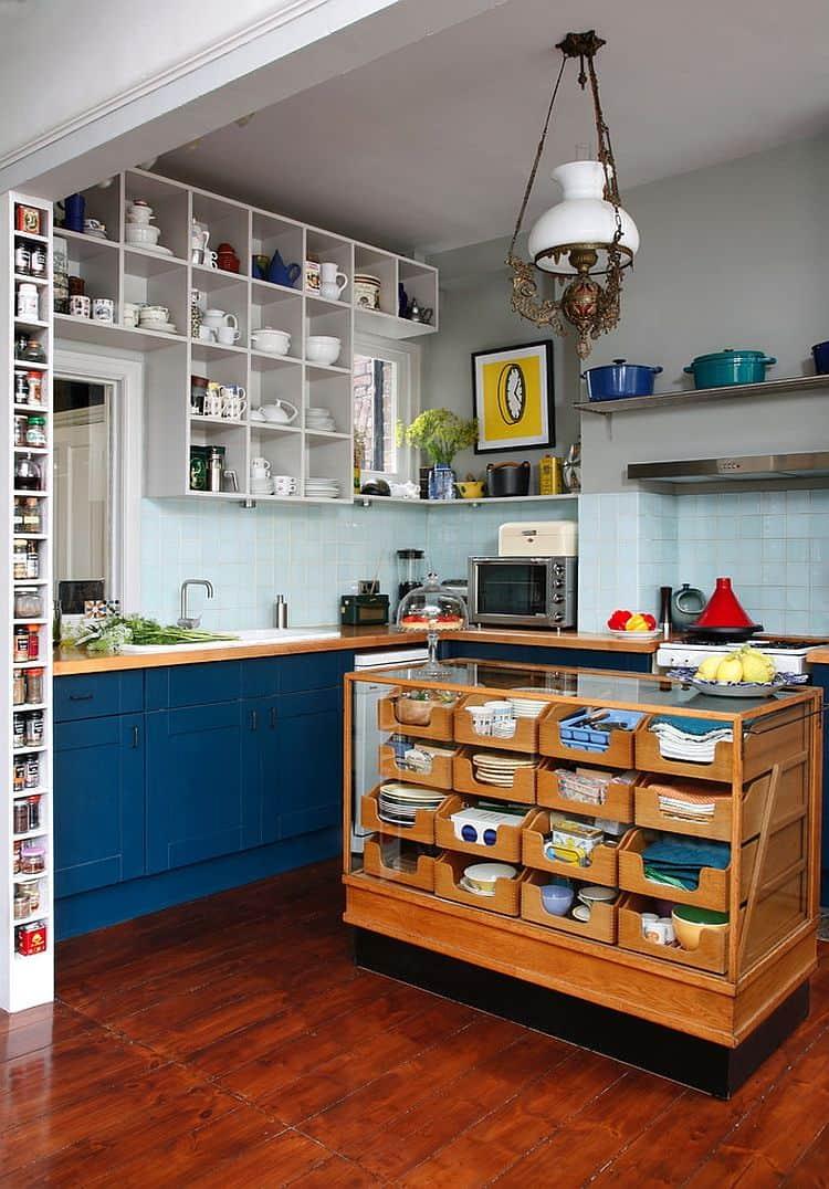 small eclectitc kitchen